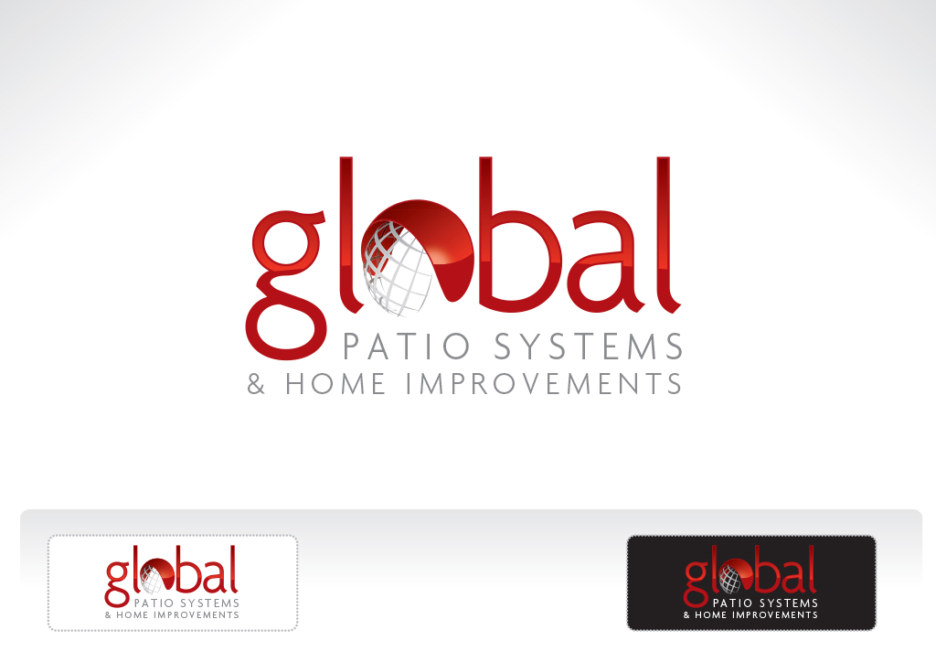 global patios logo design klik creative