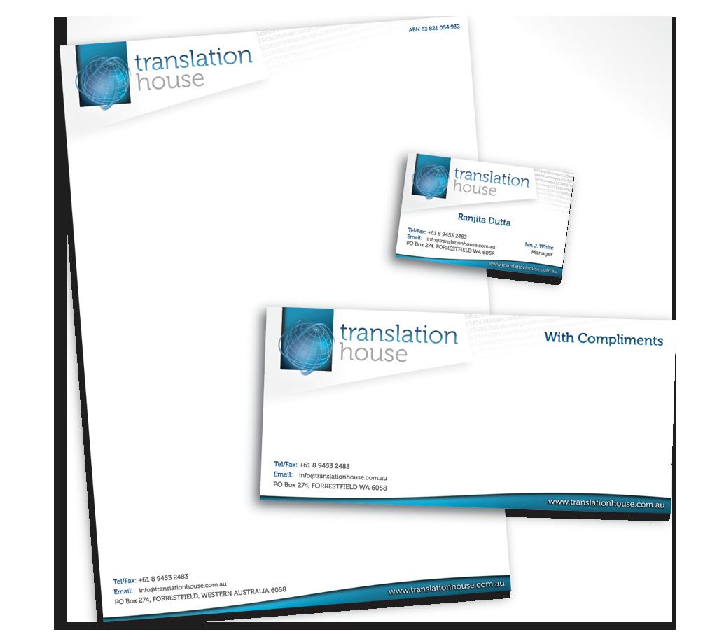 Corporate Stationery: Translation House Corporate Stationery Design